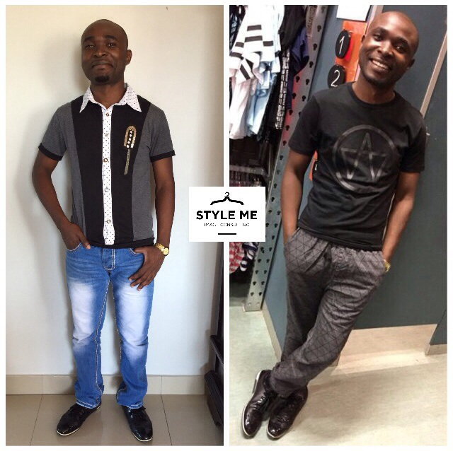 Kibwe's Before & After pic - photo taken on our shopping spree in store