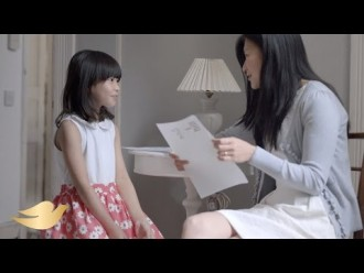 A girl's beauty confidence starts with you…(by Dove)