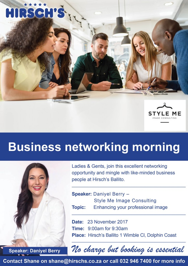 Business networking morning